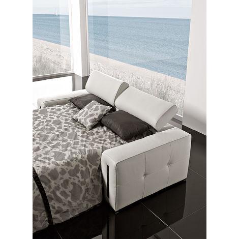 Sabrina 3 Seater Italian Leather Sofa Bed