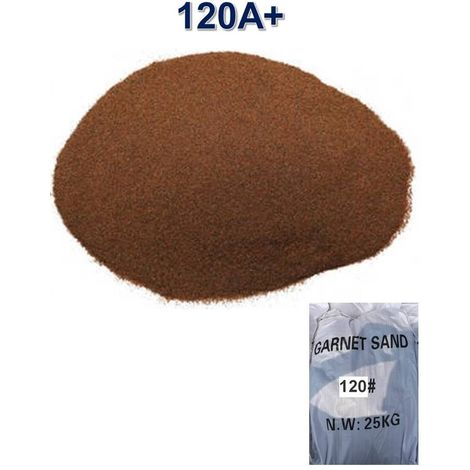 Sac 25 kg Sable Abrasif Garnet Mesh 120A+ pour Sableuse Sablage Aerogommage