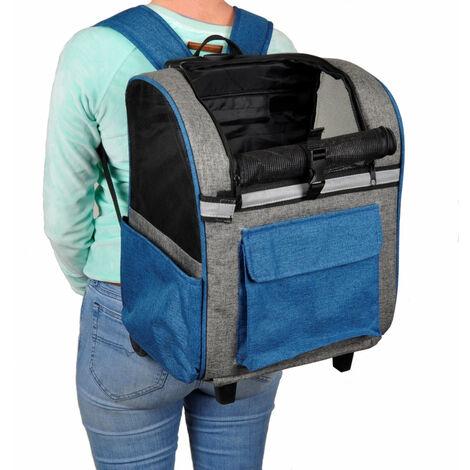 sac a dos chien trolley Kiara simple bleu