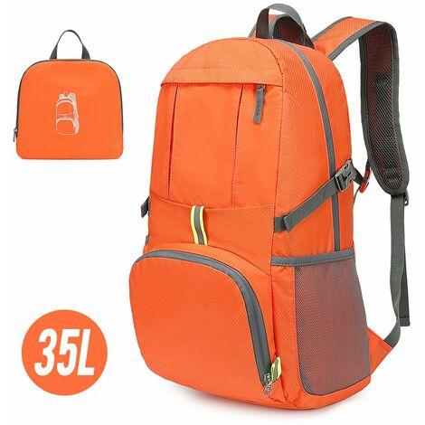 Sac A Dos Pliable Leger, 35 L, Orange