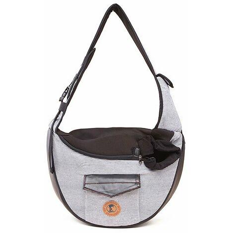 """main image of """"Sac à dos pour animaux de compagnie sac pour chat sac pour animaux de compagnie sac de voyage à bandoulière respirant sac à dos pour chien gris"""""""
