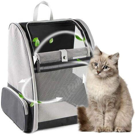 Sac à dos pour chien petit sac à dos pour animaux de compagnie chat chien chiots confortable sac à dos pour chat sac à dos de voyage voyage en plein air camping approuvé air bag