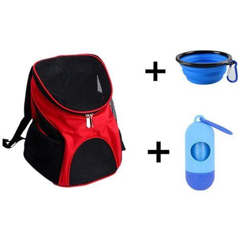 Sac à dos pour chien, sac à dos pour chien, sac de transport pour chien, sac à dos pour chien et chat, - sac pour chien pour avion, avec compartiment pour ordinateur portable, fond étanche