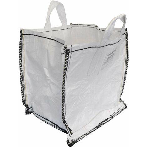 Sac à gravat 125 litres en polypropylène (PP) 120g/m2 robuste, indéchirable et polyvalent : sac à gravats, sac à déchets, sac de jardin, sac à feuilles…