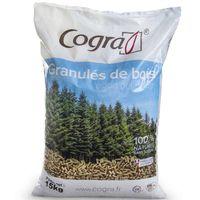 Sac à pellets granulés 15kg Cogra pour poêle