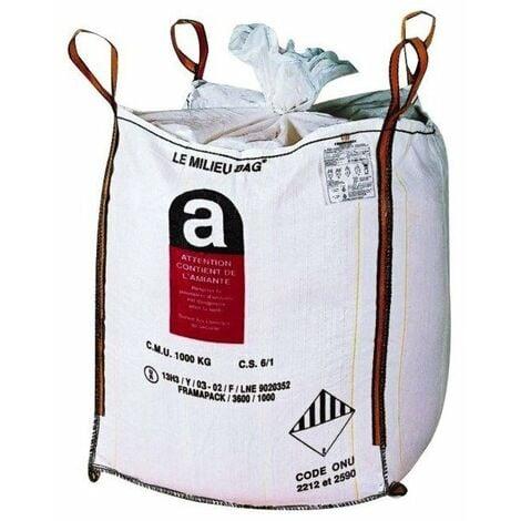 Sac big bag amiante toile polypropylene 160 grs-m2 - 87 x 87x 105