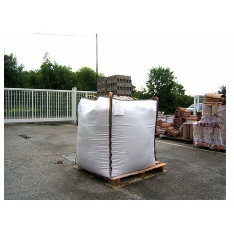Sac big bag eco chantier blanc 1m3 - 91 x 91 x 106 mm - 1500kgs