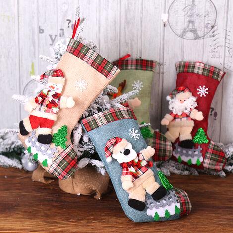 Sac Cadeau De Chaussettes De Noel Poupee Creative, Decoration De Pendentif Arbre De Noel