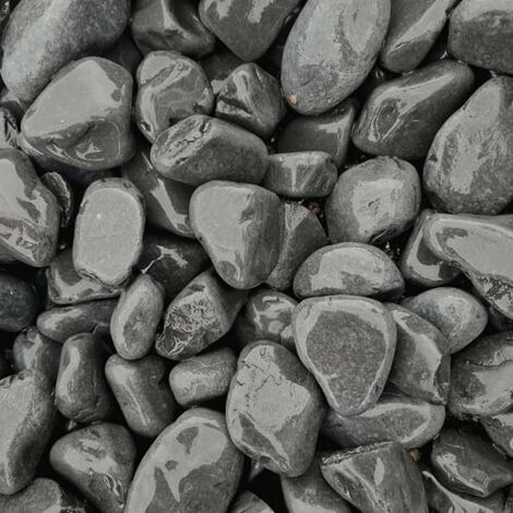 Sac de 400kg = 10M² Galet de marbre noir 25-40