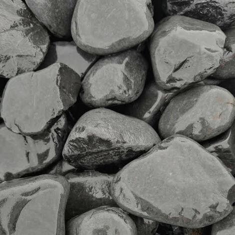 Sac de 400kg = 10M² Galet de marbre noir 40-60