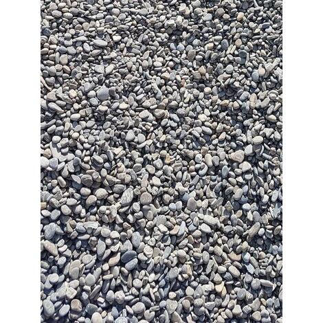 Sac de 600 kg = 15M² Gravier gris lavé Durance roulé 6/16