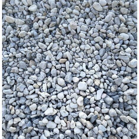 Sac de 800 kg = 20M² Galet blanc bleu de nice 8/16mm