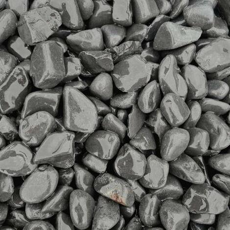Sac de 800 kg = 20M² Galet de marbre noir 12-25