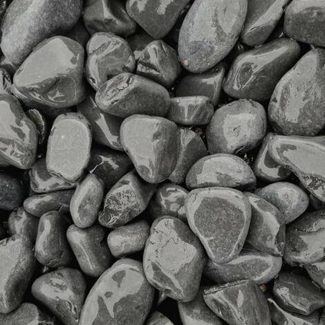 Sac de 800 kg = 20M² Galet de marbre noir 25-40