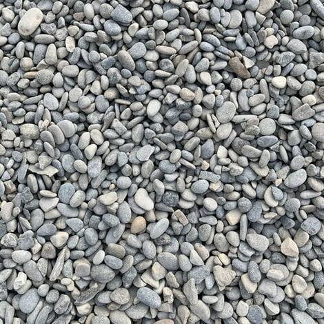 Sac de 800 kg = 20M² Gravier gris lavé Durance roulé 6/16