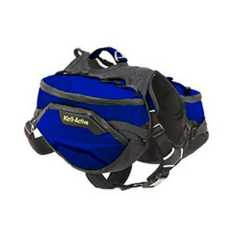 Sac de bât Pro Active Trail pour chien T1 bleu - Kn'1 ®