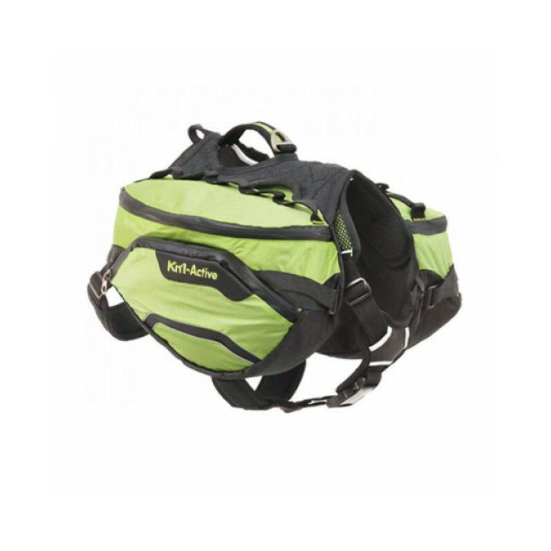 Sac de bât Pro Active Trail pour chien T1 vert - Kn'1 ®
