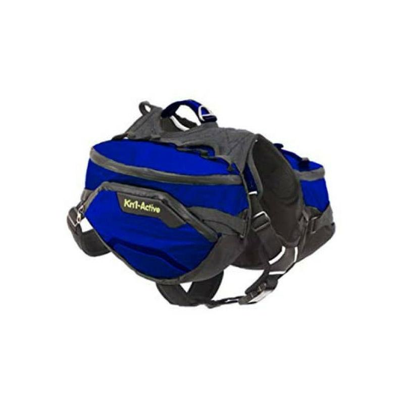 Sac de bât Pro Active Trail pour chien T2 bleu - Kn'1 ®