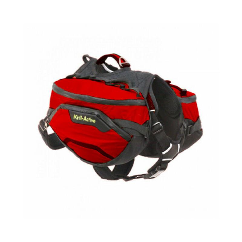 Sac de bât Pro Active Trail pour chien T2 rouge - Kn'1 ®