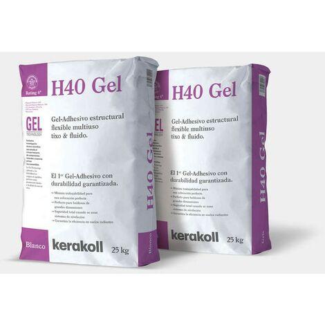 Sac de colle Kerakoll H40 Gel blanc C2TES1 25 kilos