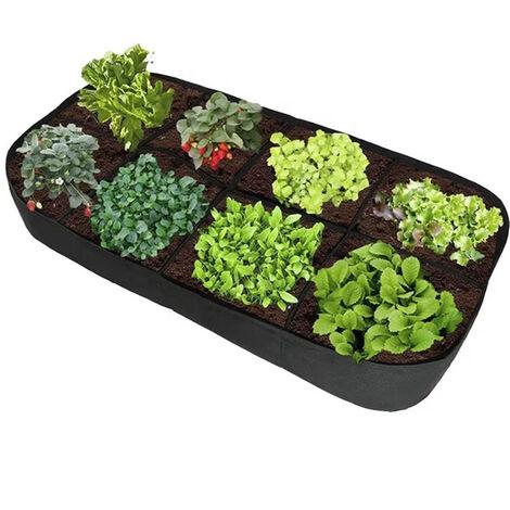 Sac de Culture Sacs à Plantes Sac de Croissance des Plantes Sac de Plantation Bassin pour Maison Balcon Jardin Légumes Pommes de Terre Courgette (noir,180*90*30)