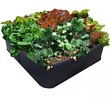Sac de Culture Sacs à Plantes Sac de Croissance des Plantes Sac de Plantation Bassin pour Maison Balcon Jardin Légumes Pommes de Terre Courgette (noir,60*60*30)