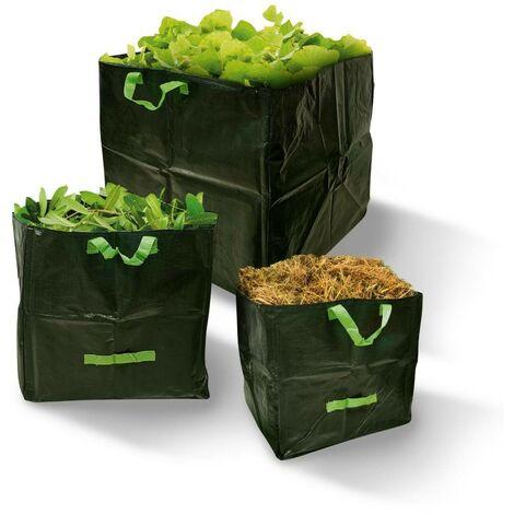Sac de jardin carré - Lot de 3 Vert