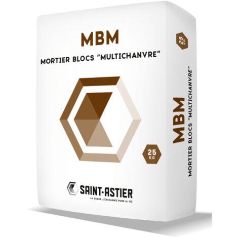 Sac de mortier-colle pour bloc de chanvre (M.B.M) Saint-Astier Sac de 25kg   sac(s) de 25kg de 0 - Sac de 25kg