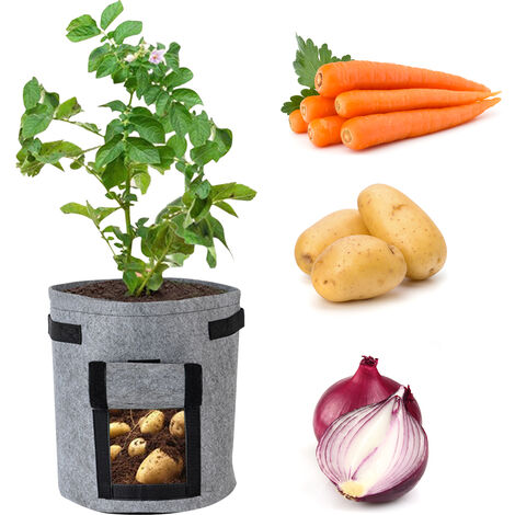 Sac de plantation Sac de croissance de plantes non tiss¨¦ Sac de semis (un paquet)