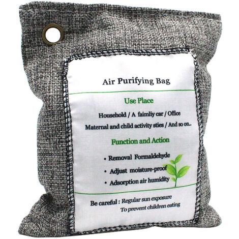 Sac de purification d'air Sac de charbon de bois eliminateur d'odeurs Absorbeur d'odeurs sans parfum Capture et elimine les odeurs 200 g, modele?: 23