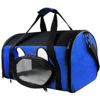 Sac de Transport pour Animaux, Sac pour Chats et Chiens, 50 x 31 x 29 cm, Bleu, Matériau: Mesh material, Polyester