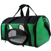 Sac de Transport pour Animaux, Sac pour Chats et Chiens, 50 x 31 x 29 cm, Vert, Matériau: Mesh material, Polyester