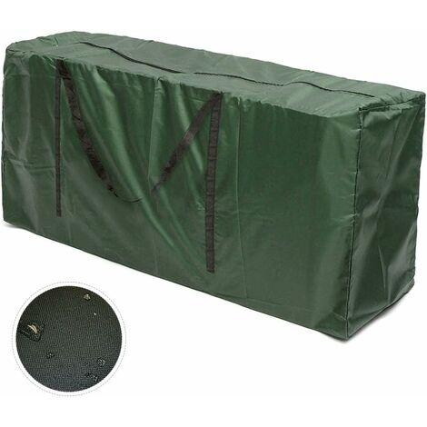 Sac de transport pour coussins de jardin Coussins de meubles de jardin Sac de rangement pour coussins d'ameublement Coussins (116x51x47)