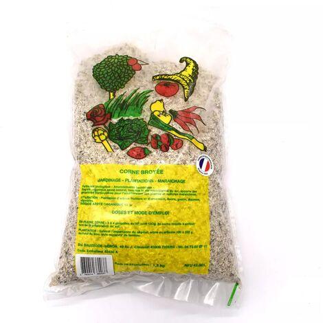 Sac d'engrais de cornes broyées en poudre , poids 1.5kg