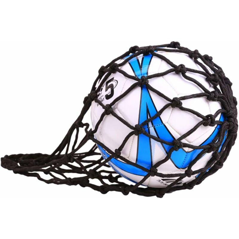 Langray - Sac en Filet pour Ballon de Football, Rugby, Basket-Ball ou Volley-Ball Nylon Idéal pour Transporter Votre Ballon-A