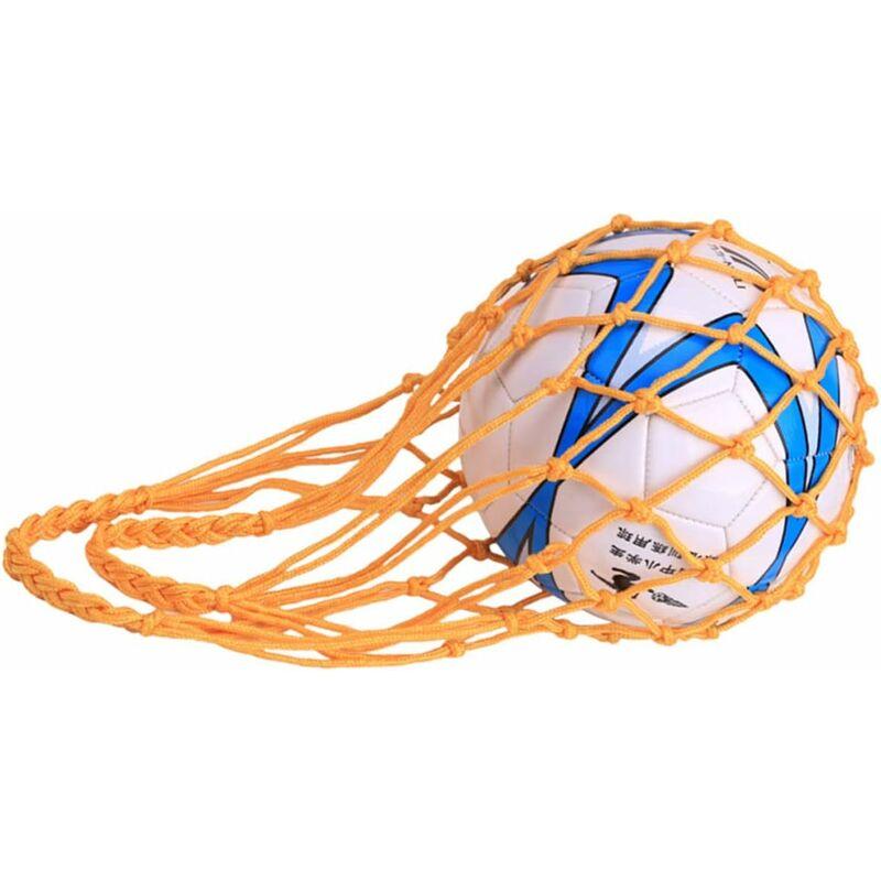 Langray - Sac en Filet pour Ballon de Football, Rugby, Basket-Ball ou Volley-Ball Nylon Idéal pour Transporter Votre Ballon-B