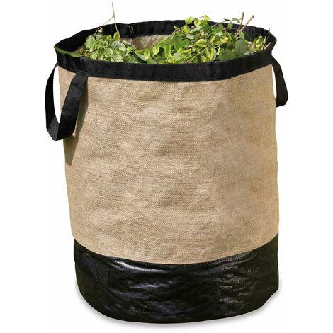 Sac en jute pour déchets végétaux 125 L - Marron