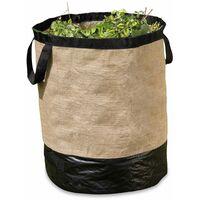Sac en jute pour déchets végétaux 270 L - Marron