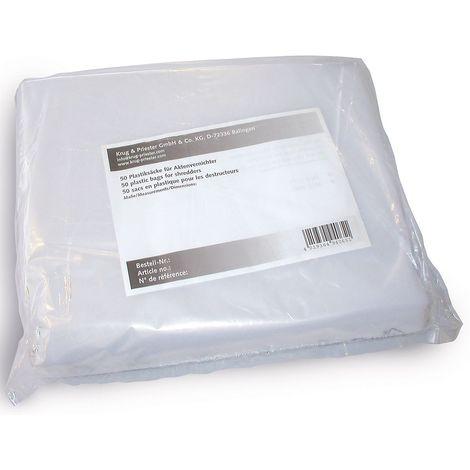 Sac en polyéthylène - pour destructeurs de documents de capacité 165 l - lot de 50