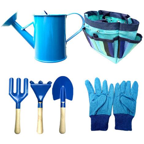 Sac En Tissu Pour Enfants Set Sacs Enfants Jardinage Outil Sain-Enfant Kit Outils D'Interaction, Bleu