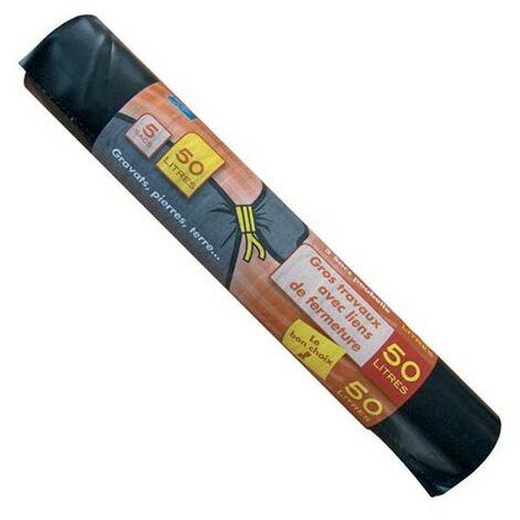 SAC GRAVATS 50L X5 100M PXGR50 (Vendu par 1)