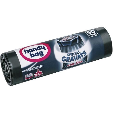 Sac gravats Handy bag - 50 l - Hauteur 85 cm - 5 sacs