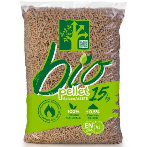 Sac pellets granule bio pour poêle 15kg Vendu à l'unité sac 15kg