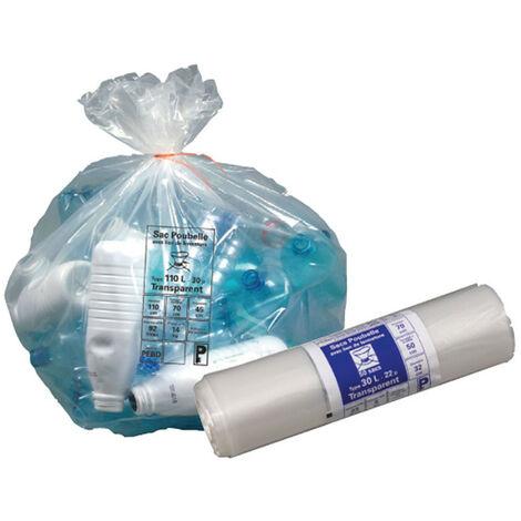Sac Poub Transpant 50lx30 24mic - PUBLI EMBAL