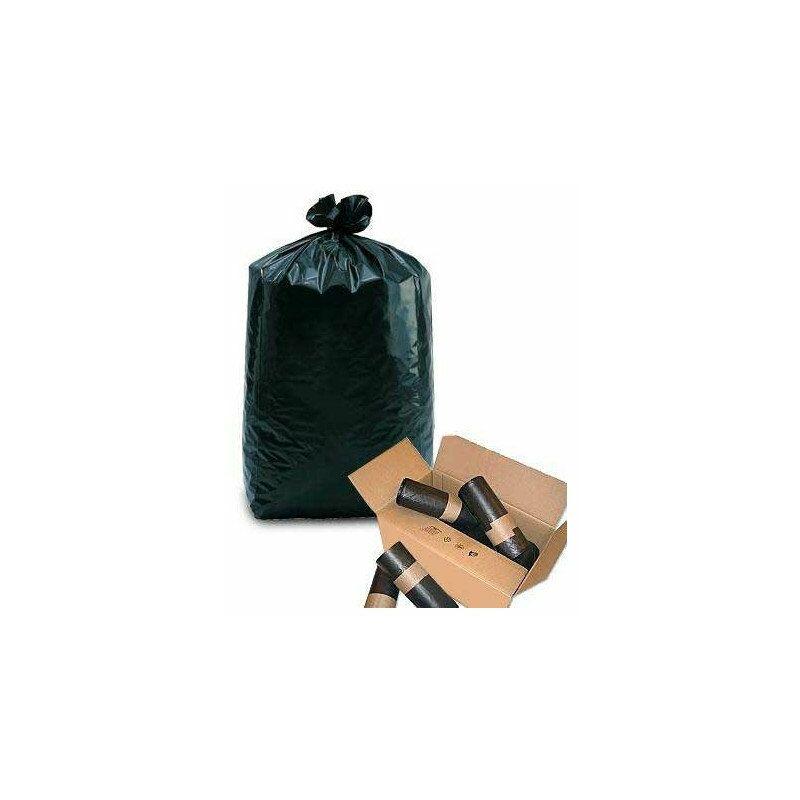 sac poubelle 100l anthracite 40µ - rouleau de 20 sacs