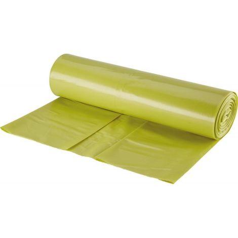 Sac poubelle 120l jaune ca. 68 microns 15 unités (Par 10)