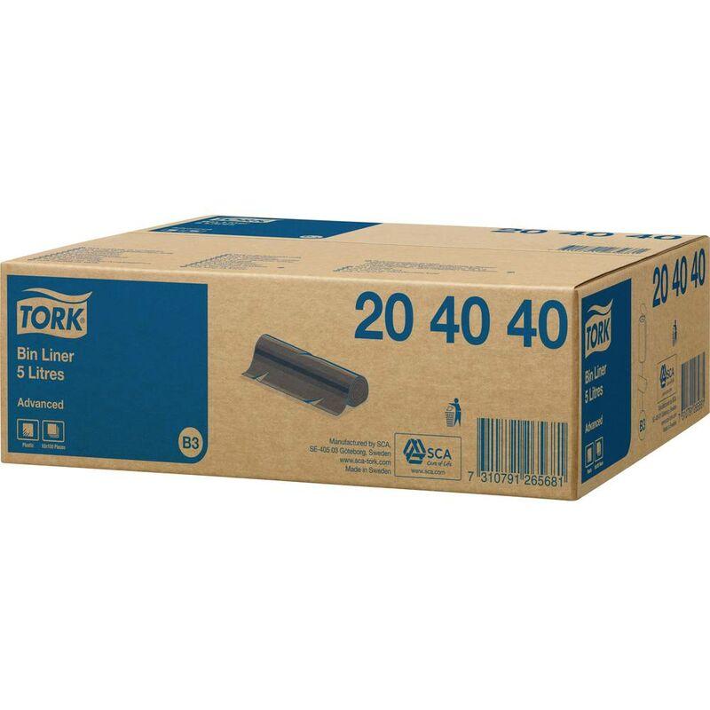 Advanced 204040 Sac poubelle 5 l plastique noir 1000 pc(s) - Tork