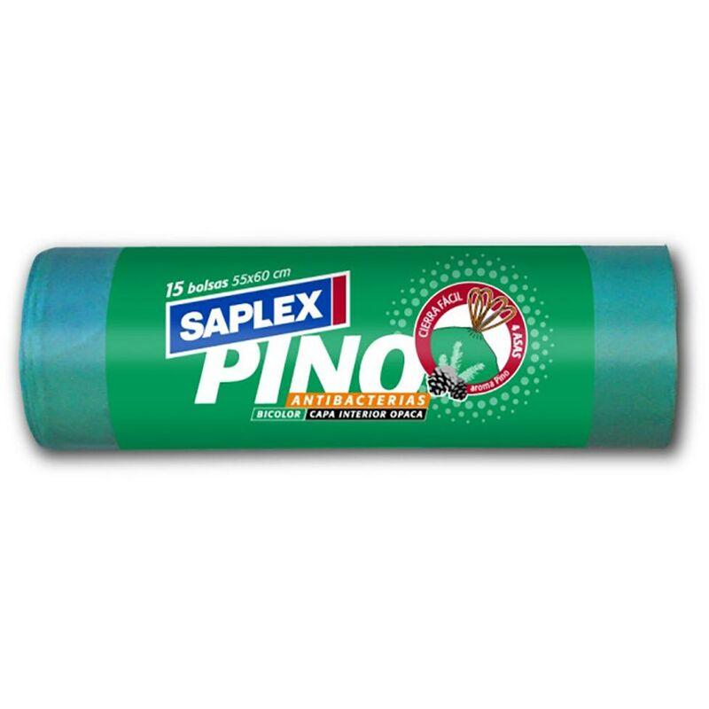 Sac poubelle antibact?rien 55X60 Cm 15 Pcs Vert Plastique Saplex