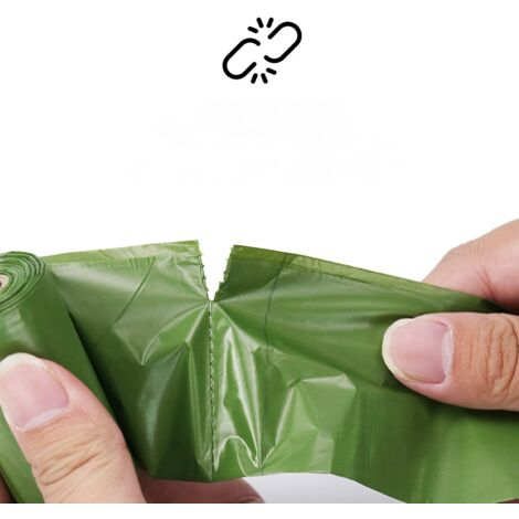 Sac poubelle biodégradable 300 pièces, petit sac poubelle (sac poubelle poubelle sac poubelle sac de recyclage) sac poubelle épais et dégradable compostable pour les aliments/déchets ménagers dans la cuisine, le bureau, la maison, lavande