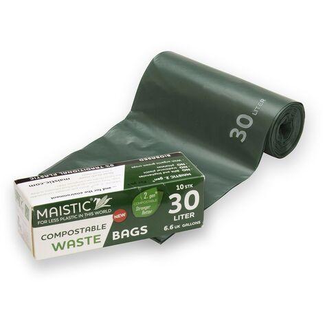 Sac Poubelle compostable 0% plastique et 0 OGM